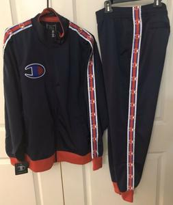 🔥2p Set 100% Authentic Champion Life Men TrackSuit Blue S