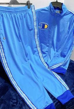 2p Set 100% Authentic Champion Life Men's TrackSuit Blue Siz