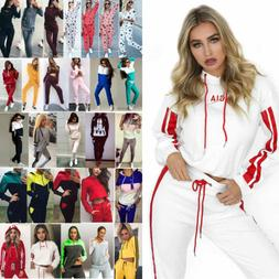 Women Tracksuit Jogging Sport Wear Sweat Suit Hoodie Sweatsh