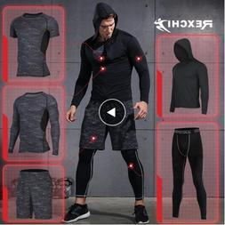 5 Pcs/Set Men's Tracksuit Sports Suit Gym Fitness Compressio