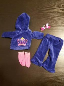 """For American Girl Doll Our Generation 18"""" doll tracksuit clo"""
