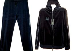 Armani Exchange Navy Cotton Men's Hoody Velvet Tracksuit Swe