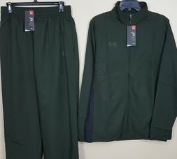 UNDER ARMOUR BASKETBALL TRACK SUIT JACKET + PANTS GREEN RARE