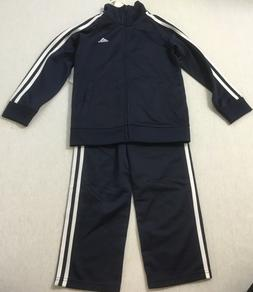 Adidas Boy's 2 Piece Tricot Tracksuit AG5902 Navy Size 7
