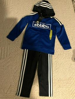 adidas Boys Tracksuit Full-Zip Hoodie and Pants Size 5 6 7 R