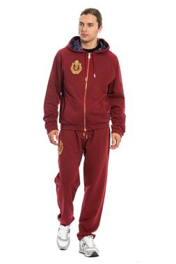 BILLIONAIRE COUTURE Tracksuit Bordeaux Cotton Sweater Pants