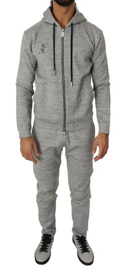 BILLIONAIRE COUTURE Tracksuit Gray Cotton Sweater Pants Set