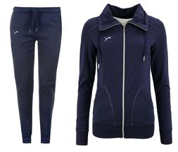 Puma French Terry Womens Full Sweat Suit Track Bottoms Navy