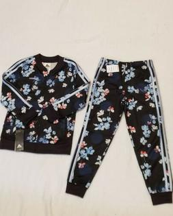 Adidas Girls' 2-pc Track Suit, size 6X