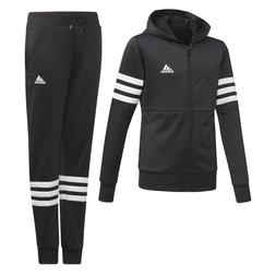 Adidas Girls Hooded Tracksuit Running School Sports Gym Yout