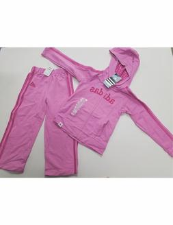Girls Size 6  Adidas Pink Track Suit / Jogging Suit Set - To