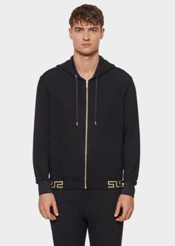 Versace Iconic Luxe Men's Tracksuit Hoodie size XS, Black/go