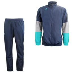 Adidas Iconic Mens Polyester Navy Full Zip Top Training Trac