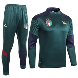 Italy Men's Green Gym Sports Training Running Tracksuit Jers