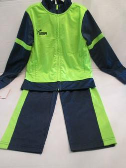 PUMA KIDS 2 PIECE TRACK SUIT - US SIZE 8 COLOR  GREEN AND BL