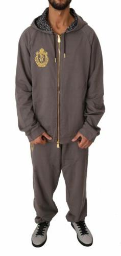 Billionaire Italian Couture Brown Sport Sweater Pants Hooded