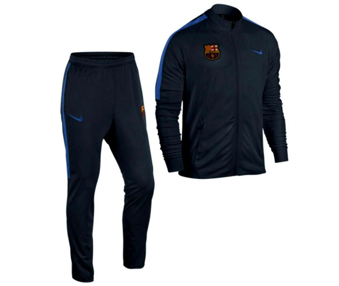 fc barcelona squad youth woven tracksuit obsidian