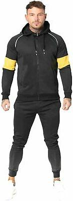 GINGTTO Men's Hooded Track Suits 2 Piece Casual Full Zip Jac