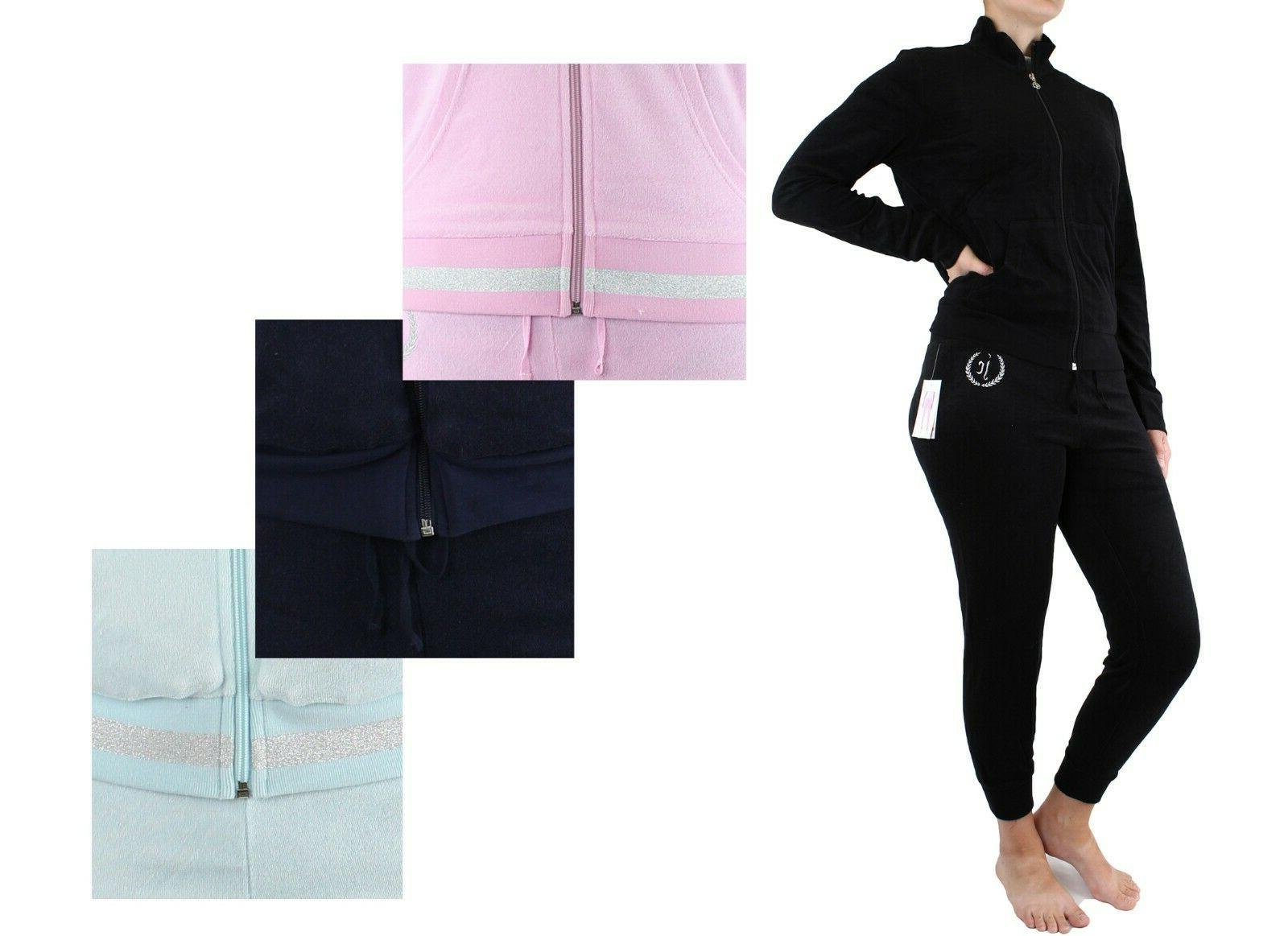 microterry full zip tracksuit sweatpants jacket pants
