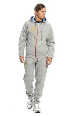 new 1300 couture tracksuit gray cotton sweater