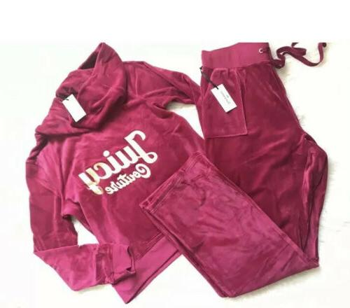 new women s tracksuit red velour hoodie