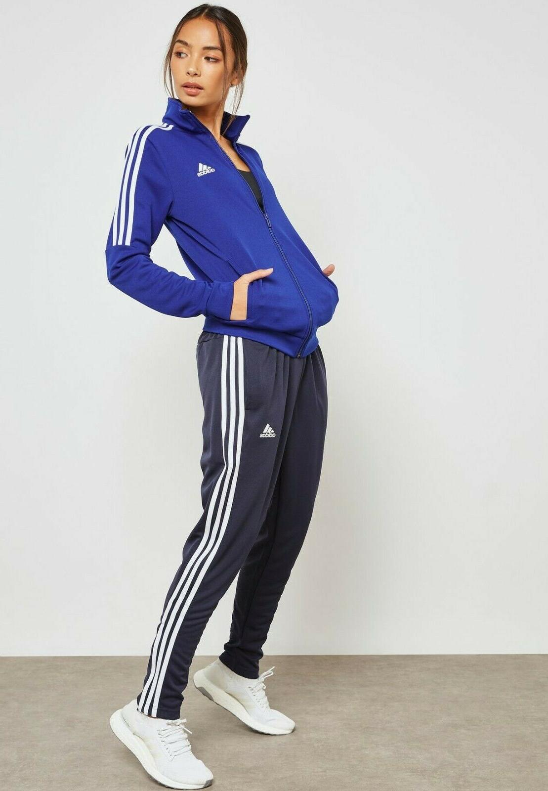 new womens cy3519 tiro tracksuit ink blue