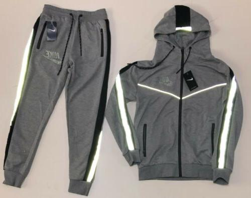 Nike Tech Sweat Suit Full Set Reflective Tracksuit