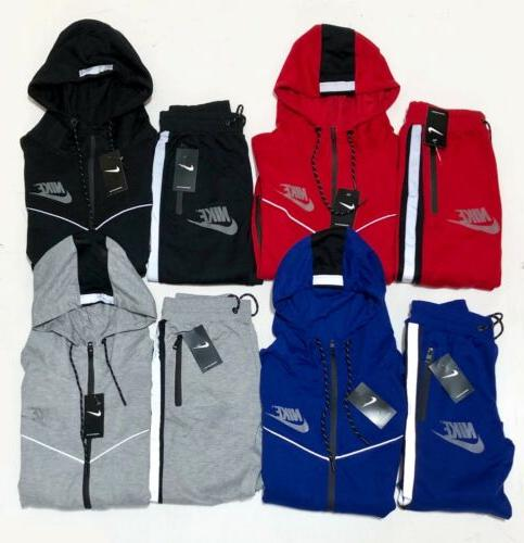 Nike Reflective Sweat Suit Zip Set Tracksuit