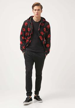 Love Moschino Peace Sign men's black Hoodie Tracksuit Top sw