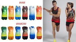 Lovers Couple Clothes Man Woman Athletic Garment Running Ves