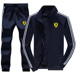 Men Gym TrackSuit Sport Jacket Sweats Suit Set Trousers Pant