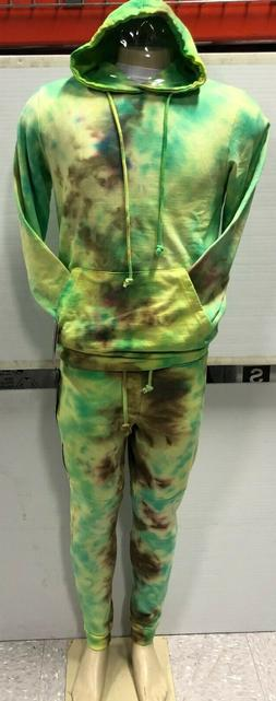 BW ATTIRE MEN'S PULLOVER  ICE DYE  TOP & BOTTOM SET ASST. SI