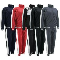 Men's Retro Two Tone Striped Lightweight Sweats Tracksuit Pa