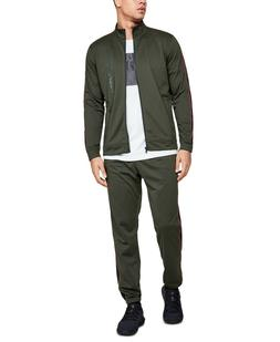 Under Armour Men's Track Suit Jacket & Track Pants, Green, S