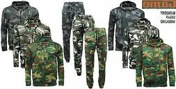 Mens GAME Army Camo Camouflage Hoody Tracksuit | Hoodie | Zi