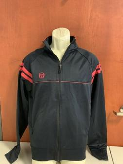 Mens Sergio Tacchini Brand New  Track Jacket - Black and Red