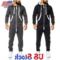 Mens Full Zip 1Onesie All In One Piece Jumpsuit Hooded Plays