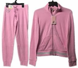 Juicy Couture Micro Terry Tracksuit Set 2-Piece Jacket & Pan