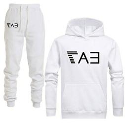 New 2020 EA7 Logo Tracksuit Fashion Men Sportswear Two Piece
