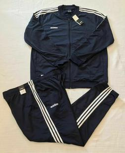 NEW MEN'S ADIDAS 3-STRIPES TRACKSUIT  NAVY/WHITE ~ SIZE XX
