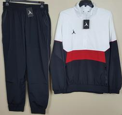 NIKE AIR JORDAN RETRO 3 TRACK SUIT JACKET + PANTS WHITE RED