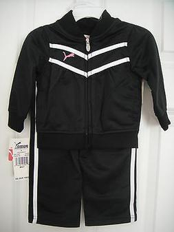 PUMA NWT Girl 2PC Track Suit Jacket Pant Top Warm Up Polyest