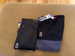 NWT Mens Fila Sweat Suit - Size M, L & XL - Black Pants, Gre