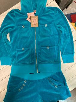 RARE! BRAND NEW/TAGS Juicy Couture women's teal blue track