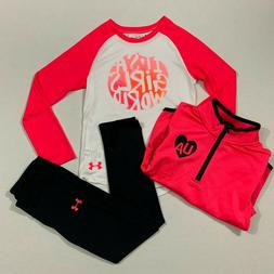 Under Armour Size 5 6 NWT Girls Track Suit Top 1/4 Zip Jacke