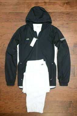 Lacoste Sport $250 Men's Athletic Black/White Poly Hooded Tr