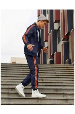 Puma Track Suit men's medium blue and white top and bottom