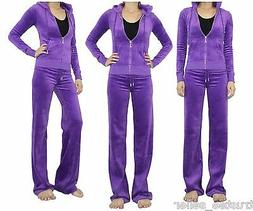 Juicy Couture Violet J Bling Casual Sports Hoodies + Pants V