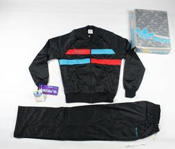 NOS Vtg 80s Adidas Run DMC Spell Out Track Suit Jacket Pants