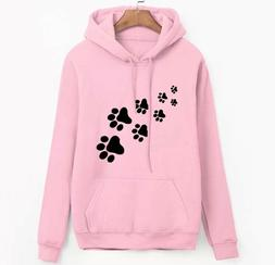 white pink brand tracksuits femme Casual 2019 kawaii cat paw